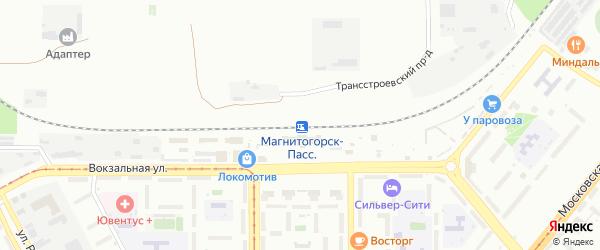 Территория ГСК Южный Урал Блок6 на карте Магнитогорска с номерами домов