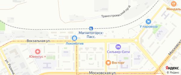 Привокзальная площадь на карте Магнитогорска с номерами домов