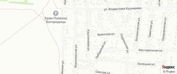 Каштановая улица на карте Магнитогорска с номерами домов
