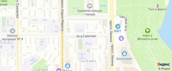 Проезд Саратова на карте Магнитогорска с номерами домов
