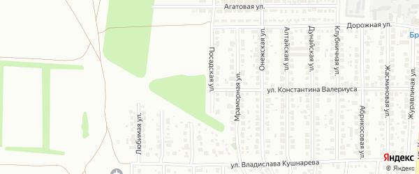 Посадская улица на карте Челябинска с номерами домов
