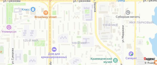 Территория ГСК Ленина 94/3 на карте Магнитогорска с номерами домов