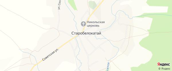 Карта села Старобелокатая в Башкортостане с улицами и номерами домов