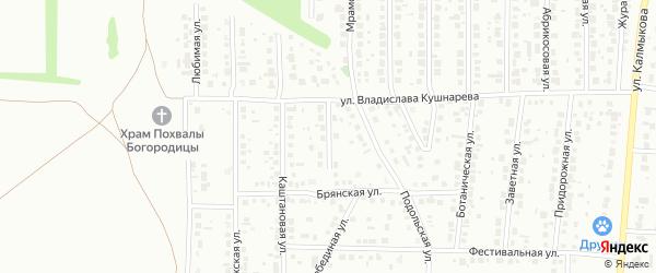 Витебский переулок на карте Магнитогорска с номерами домов