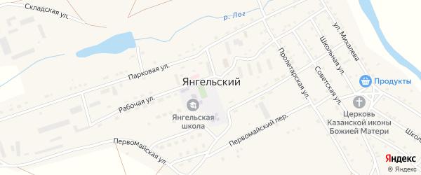 Школьная улица на карте Янгельского поселка с номерами домов
