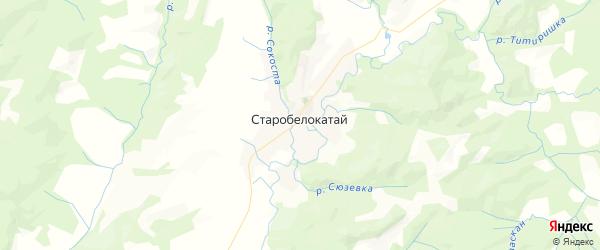 Карта Старобелокатайского сельсовета республики Башкортостан с районами, улицами и номерами домов