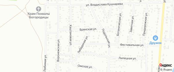 Лебединая улица на карте Магнитогорска с номерами домов