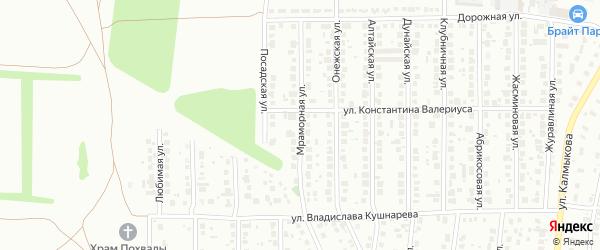 Мраморная улица на карте Магнитогорска с номерами домов