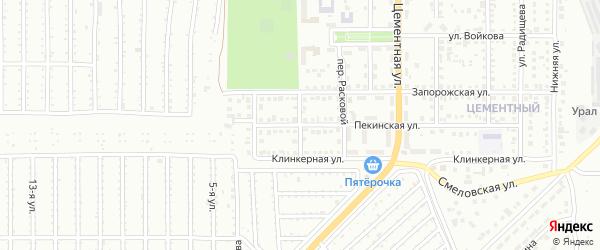 Пекинский переулок на карте Магнитогорска с номерами домов
