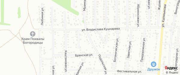 Подольская улица на карте Магнитогорска с номерами домов