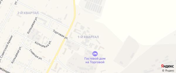 1-й квартал на карте Сатки с номерами домов