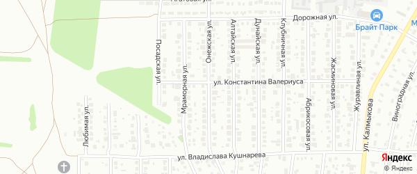 Онежская улица на карте Магнитогорска с номерами домов