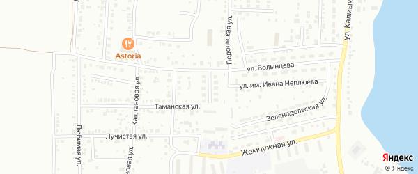 Озерный переулок на карте Магнитогорска с номерами домов