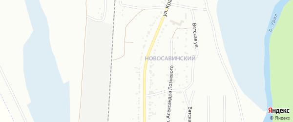 Улица Красный Маяк на карте Магнитогорска с номерами домов