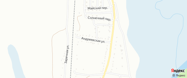 Андреевская улица на карте Магнитогорска с номерами домов