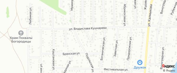 Ясный переулок на карте Магнитогорска с номерами домов