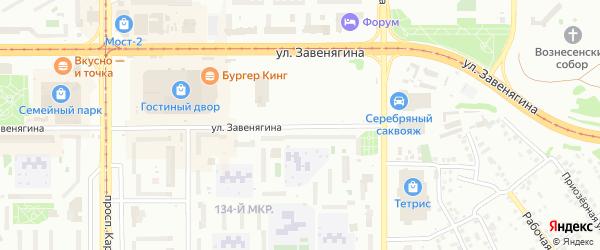 Улица Завенягина на карте Магнитогорска с номерами домов