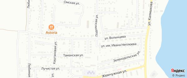 Улица Волынцева на карте Магнитогорска с номерами домов