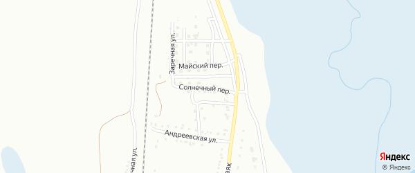 Солнечный переулок на карте Магнитогорска с номерами домов