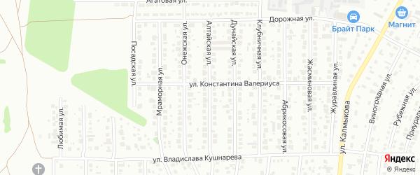Алтайская улица на карте Магнитогорска с номерами домов