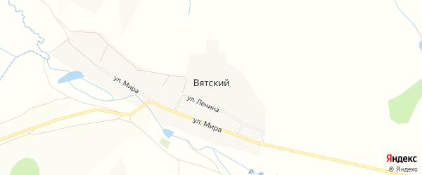 Карта Вятского поселка в Челябинской области с улицами и номерами домов