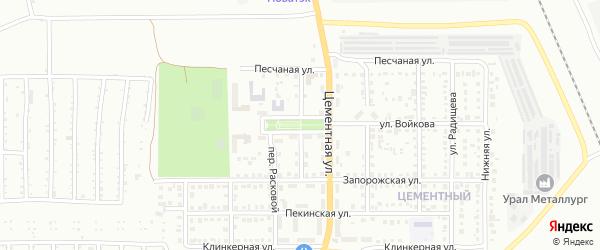 Улица Журавского на карте Магнитогорска с номерами домов