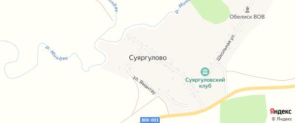 Улица Мураткулово на карте деревни Суяргулово с номерами домов