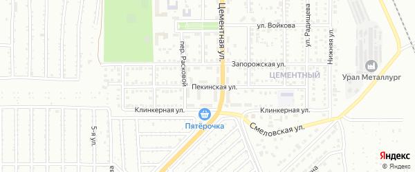 Пекинская улица на карте Магнитогорска с номерами домов