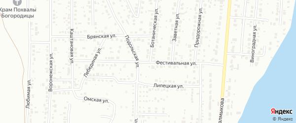 Фестивальная улица на карте Магнитогорска с номерами домов