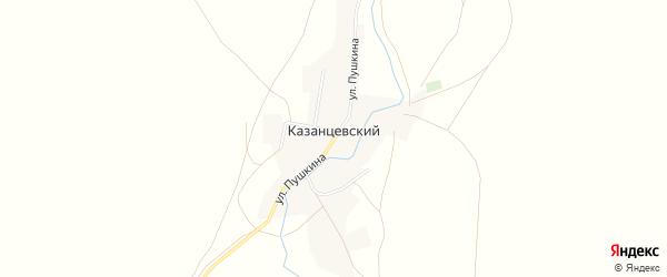 Карта Казанцевского поселка в Челябинской области с улицами и номерами домов