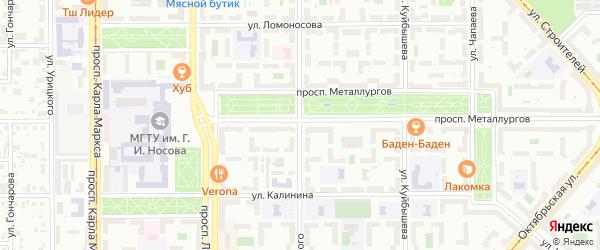 Улица Горького на карте Магнитогорска с номерами домов