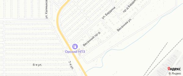 Весенний проезд на карте Магнитогорска с номерами домов