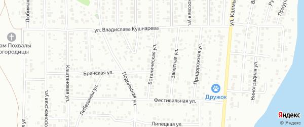 Ботаническая улица на карте Магнитогорска с номерами домов