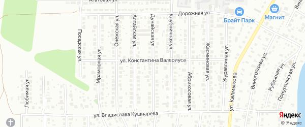 Дунайская улица на карте Магнитогорска с номерами домов