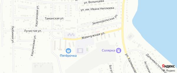 Жемчужная улица на карте Магнитогорска с номерами домов