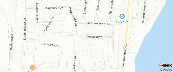 Липецкая улица на карте Магнитогорска с номерами домов