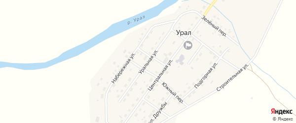 Уральная улица на карте поселка Урала с номерами домов
