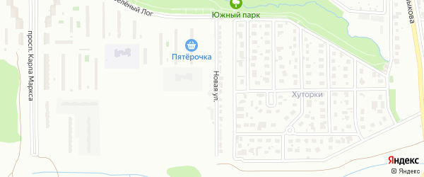 Территория ГСК Ближний на карте Магнитогорска с номерами домов