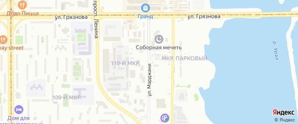 Улица Марджани на карте Магнитогорска с номерами домов
