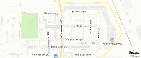 Амурский переулок на карте Магнитогорска с номерами домов