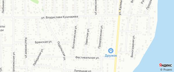 Заветная улица на карте Магнитогорска с номерами домов
