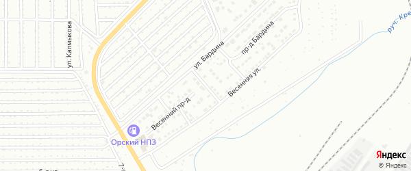 Новосеверная улица на карте Магнитогорска с номерами домов
