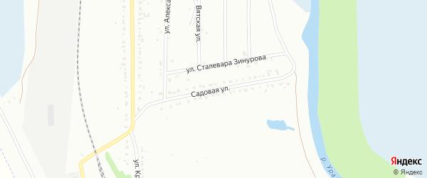 Садовая улица на карте Магнитогорска с номерами домов