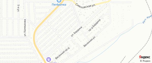 Улица Бардина на карте Магнитогорска с номерами домов