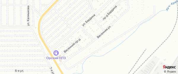 Территория ГСК Северная-1 на карте Магнитогорска с номерами домов