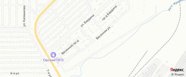 Территория ГСК Северная-2 на карте Магнитогорска с номерами домов