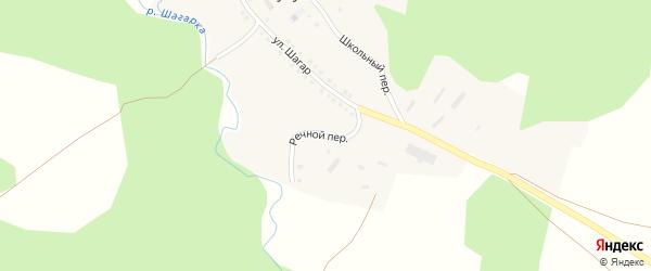 Речной переулок на карте деревни Кулушево с номерами домов