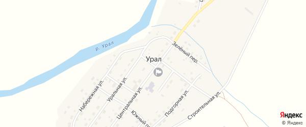 Строительная улица на карте поселка Урала с номерами домов