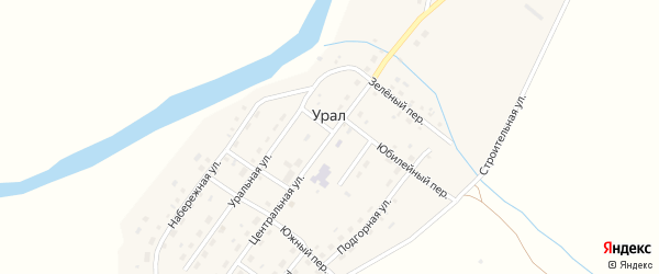 Центральная улица на карте поселка Урала с номерами домов