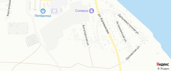 Богатырская улица на карте Магнитогорска с номерами домов